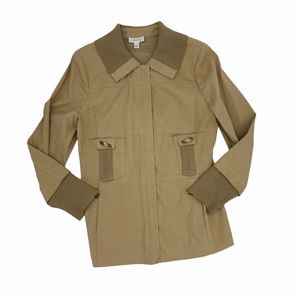 St. John Sport Safari Utility Button Front Jacket